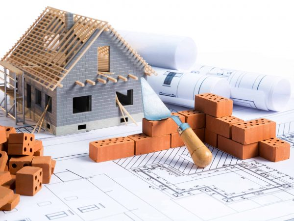 Baustelle, Pläne, Miniaturhaus