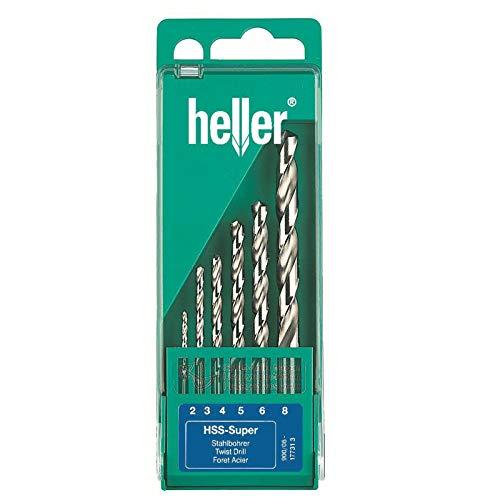 Dapetz Heller 6 Teile HSS-Co Cobalt Edelstahlbohrer Set - 2mm - 8mm Qualität Deutsch