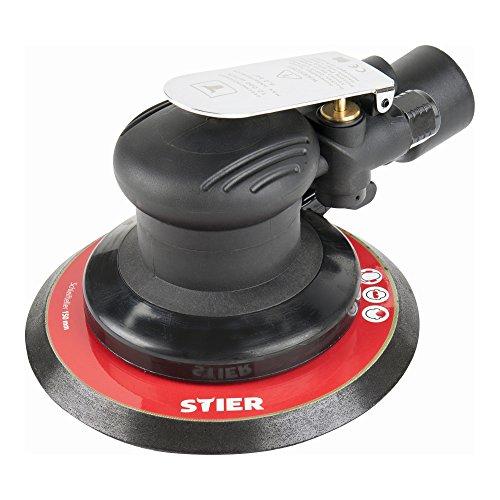 STIER Exzenterschleifer, EXS-120, Länge 187 mm, Schleifteller 150 mm, geeignet für Nass- und Trockenschliff, mit Kletthaftung