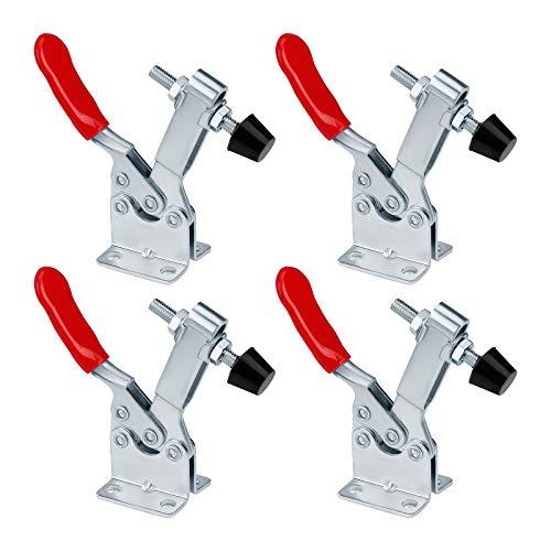 Kniehebelspanner Schnellspanner GH-201B Knebelklemme 90kg/198lbs Fassungsvermögen Vertikaler Handwerkzeuge Horizontal Toggle Clamp 4 Stück
