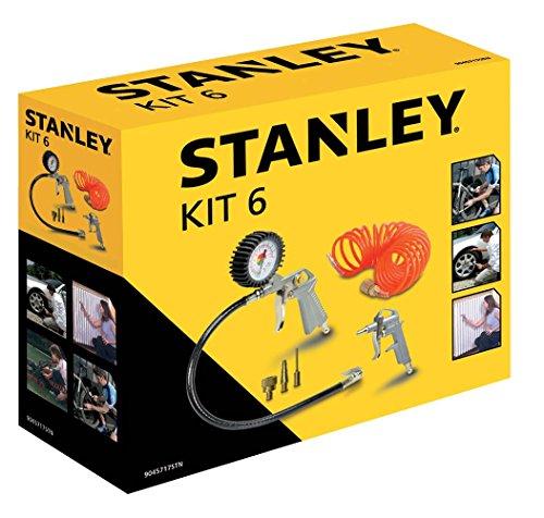 Stanley Zubehör für Luftkompressoren, Airtoolkit 6 Stück, 9045717STN